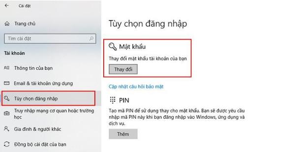 Cách cài đặt mật khẩu cho laptop đơn giản - 3