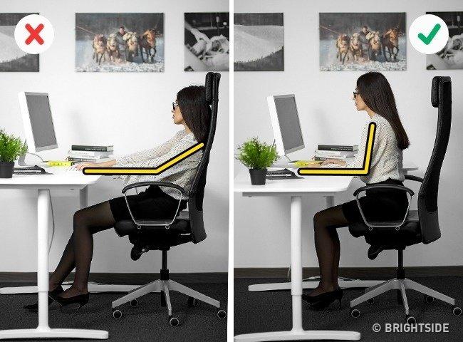 Những tư thế ngồi máy tính đúng cách bảo vệ sức khỏe - 3