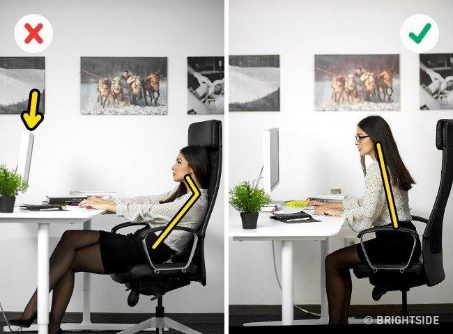 Những tư thế ngồi máy tính đúng cách bảo vệ sức khỏe - 4