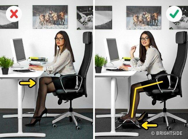 Những tư thế ngồi máy tính đúng cách bảo vệ sức khỏe - 1