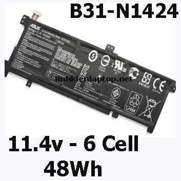 Pin Laptop Asus K401L, K401U Chất Lượng Cao ( 11.4V, 48Wh, Zin )
