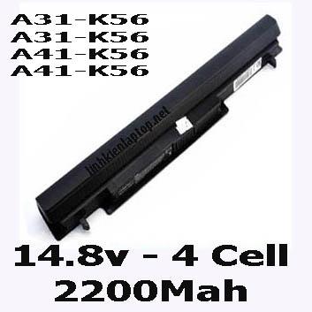 Pin Laptop Asus K56C K56CA K56CM Chất Lượng Cao ( 14.8V, 32Wh )
