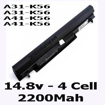 Pin Laptop Asus S56C S56Ca Chất Lượng Cao ( 14.8V, 32Wh )