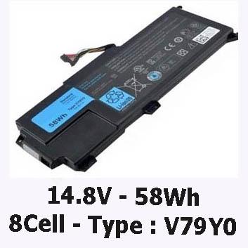 Pin Laptop Dell Xps 14z-L412x Chính Hãng ( 14.8V, 58Wh )