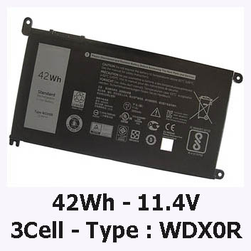 Pin Laptop Dell Inspiron 5567 Chính Hãng ( 11.4V, 42Wh )