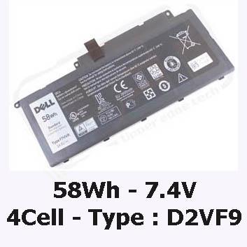 Pin Laptop Dell Inspiron 7547 Chính Hãng ( 7.4V, 58Wh ) Tại Tphcm