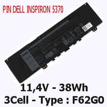 Pin Dell Inspiron 5370 13-5370 Chính Hãng  ( 11.4V, 38Wh )