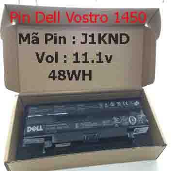 Pin Dell Vostro 1450 Chính Hãng  ( 11.1V, 48Wh )