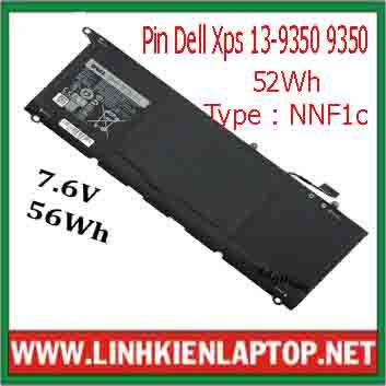 Pin Dell Xps 13-9350 Chính Hãng  ( 7.6V, 56Wh )