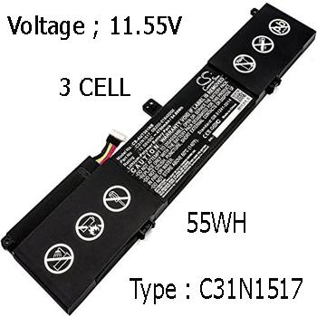 Pin Laptop Asus TP301U TP301UA TP301 Chính Hãng ( 11.55V, 55Wh )