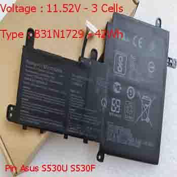 Pin Laptop Asus S530F S530FA S530FN Chính Hãng  ( 11.52V, 42Wh )