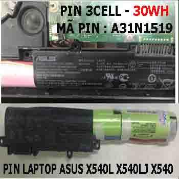 Pin Laptop Asus X540L